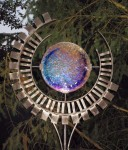 Portal - Reclaimed steel with kiln fused irid glass