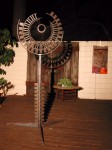 """""""Portal"""" Made from reclaimed steel. 3' x 8'h"""