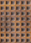 """Square pattern in copper with patina. 3/8"""" squares."""